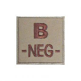 Insigne B- de groupe sanguin Coyote - TOE
