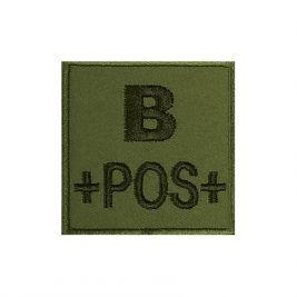 Insigne B+ de groupe sanguin Kaki - TOE