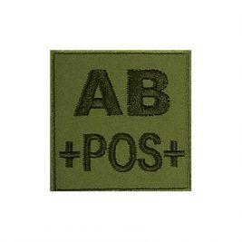 Insigne AB+ de groupe sanguin Kaki- TOE