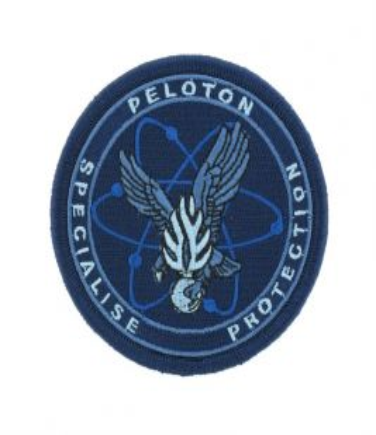 Écusson Peloton Spécialisé de Protection de la Gendarmerie Basse visi. Bleu