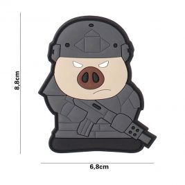 Patch 3D cochon tactique en PVC - 101 Inc