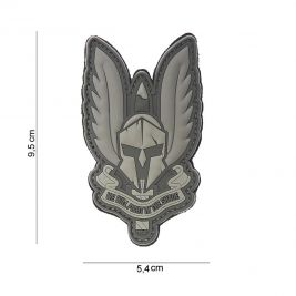 Patch 3D Spartan gris en PVC - 101 Inc