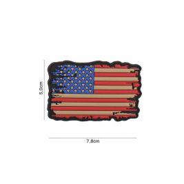 Patch 3D drapeau USA vintage en PVC - 101 Inc