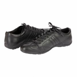 Chaussure Cuir Noire type Sneakers - VVS