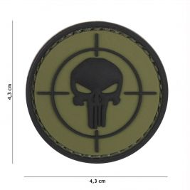Patch 3D cible avec The Punisher vert - 101 Inc