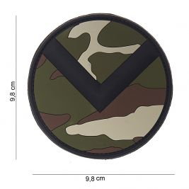Patch 3D Spartan shield en PVC woodland - 101 Inc