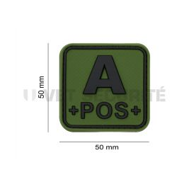 Patch groupe sanguin A+ Vert OD - JTG
