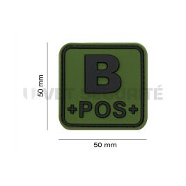 Patch groupe sanguin B+ Vert OD - JTG