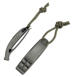 Lot de 2 sifflets Tactical vert - 101 Inc