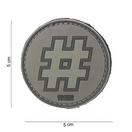 "Patch 3D PVC ""Hashtag"" Gris - 101 Inc"