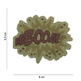 "Patch 3D en PVC ""BOOM"" marron - 101 Inc"