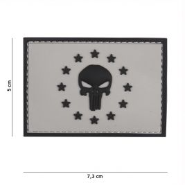 Patch 3D en PVC Punisher EU Gris - 101 Inc