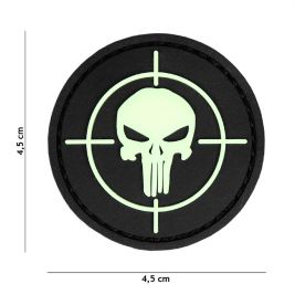 Patch 3D en PVC Punisher Cible Phosphorescent - 101 Inc