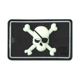 Patch pirate skull noir phosphorescent - JTG