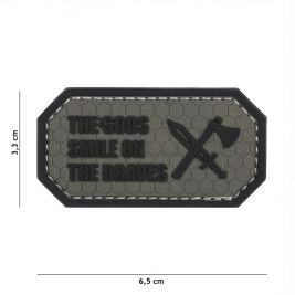 Patch 3D PVC The gods smile on the braves Gris - 101 Inc
