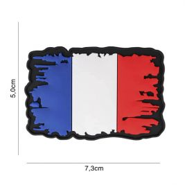 Patch 3D PVC France Vintage - 101 Inc