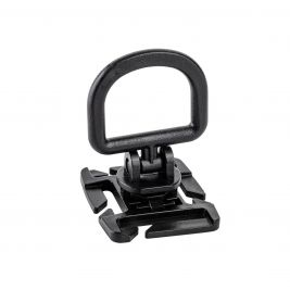 Point d'ancrage rotatif D-ring Noir adaptable sur MOLLE - TOE Pro