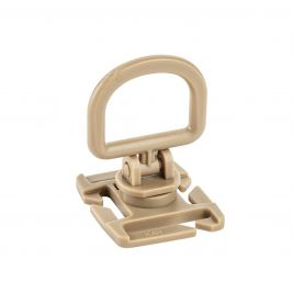 Point d'ancrage rotatif D-ring Tan adaptable sur MOLLE - TOE Pro