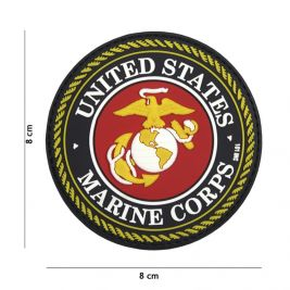 Patch 3D PVC United States Marine Corps red - 101 INC