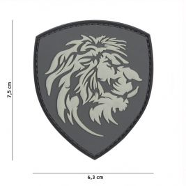 Patch 3D PVC Dutch Lion Gris - 101 Inc
