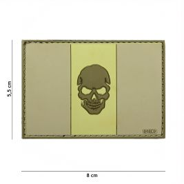 Patch 3D PVC Flag Italy + Skull Subdued - 101 Inc