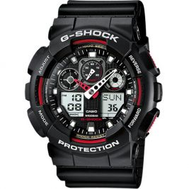 Montre G-Shock Classic GA-100 noir/rouge - Casio