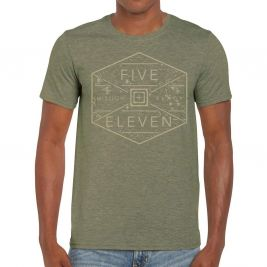 Tee-shirt HEX GRID Military Green Heather - 5.11 Tactical