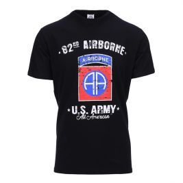 Tee-shirt US Army 82nd Airbone Noir - Fostex Garments