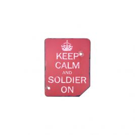 Plaque Keep Calm and Soldier On - Kombat Tactical