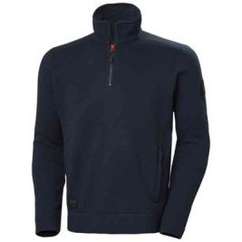 KENSINGTON HALF ZIP KNIT FLEECE MARINE - HELLY HANSEN