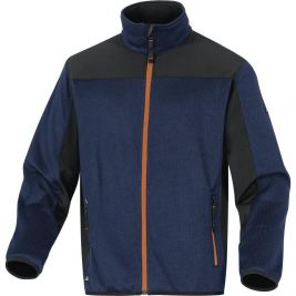 VESTE POLAIRE ASPECT PULL POLYESTER Marine/Orange - DELTA PLUS