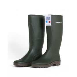 Bottes PVC Verte 100% recyclable - Made in France - GoodYear