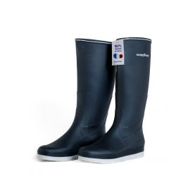 Bottes Bleu Marine PVC nautique sport 100% recyclable - Made in France - GoodYear
