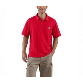 CONTRACTORS WORK POCKET POLO K570 RED-RED