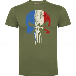 Tee-shirt Vert Punisher Tricolore- Army Design by Summit Outdoor