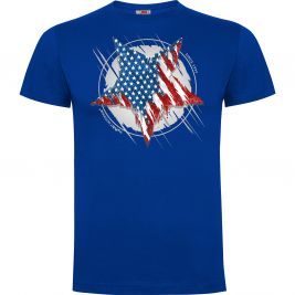 Tee-shirt Bleu Royal Etoile US - Army Design by Summit Outdoor