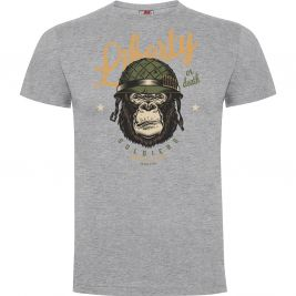 Tee-shirt Liberty or Death Gris Chiné - Army Design by Summit Outdoor