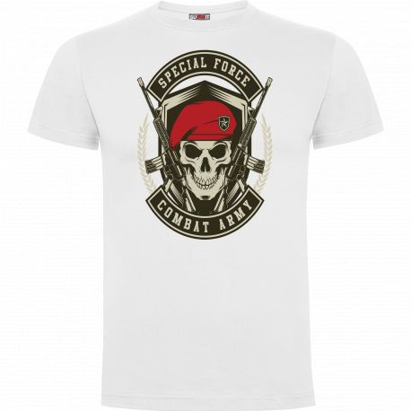 Tee-shirt Blanc Combat Army - Army design by Summit Outdoor