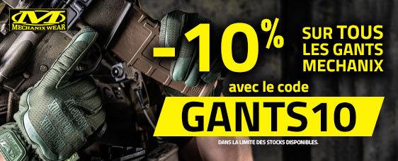 -10% sur les gants de la marque Mechanix