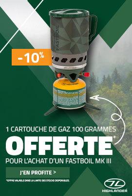 Un Fastboil MKIII acheté, une cartouche de gaz offerte